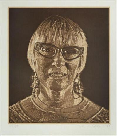 Chuck Close, 'Janet', 1988