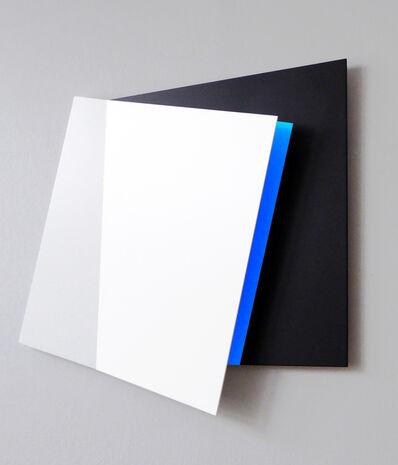 Gerhard Frömel, 'Weiß-schwarz-Blauraum I', 2016