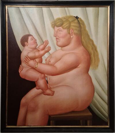 Fernando Botero, 'donna con bambino', 1995
