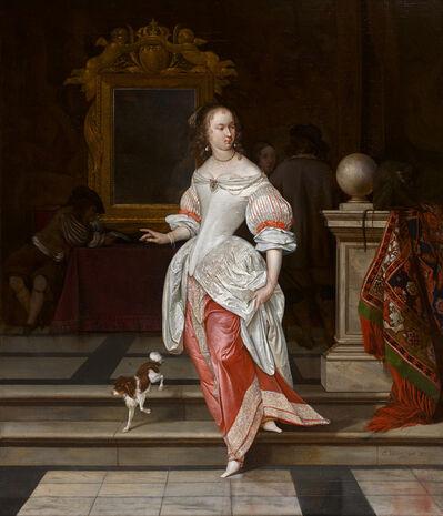 Eglon Hendrik van der Neer, ''La Grande Dame:' A Lady and other Figures in an Interior', 1665