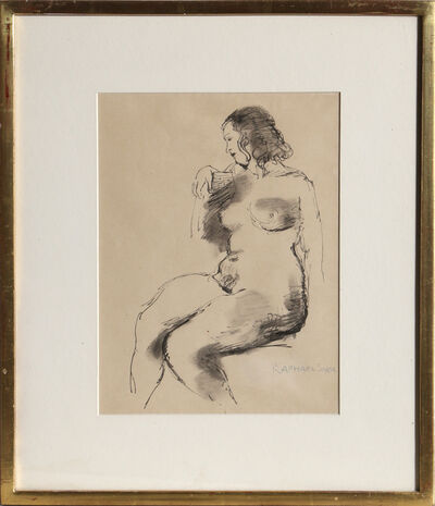 Raphael Soyer, 'Seated Nude', ca. 1965