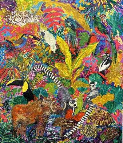 Hunt Slonem, 'Lemurs', 1986