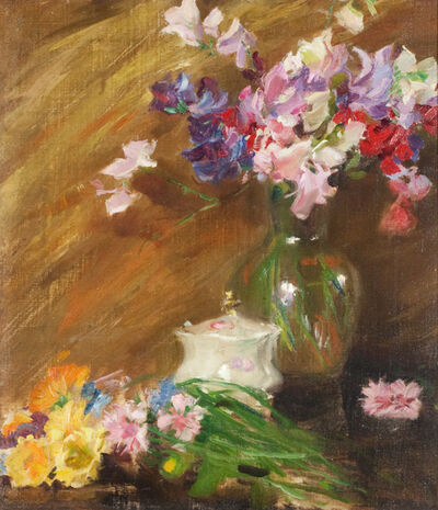 Irving Ramsey Wiles, 'Still Life with Bouquet and Sugar Bowl'