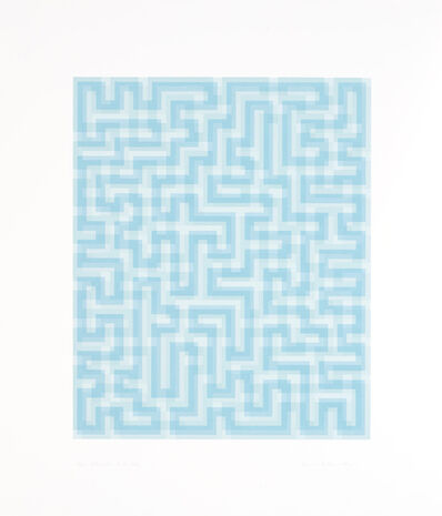 Anni Albers, 'Blue Meander', 1970