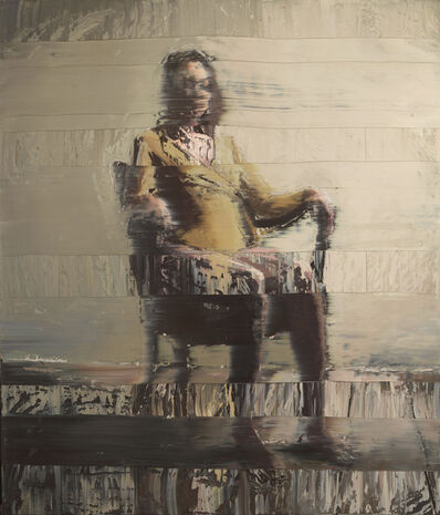 Andy Denzler, 'Girl With Olive Shirt on a Chair', 2020