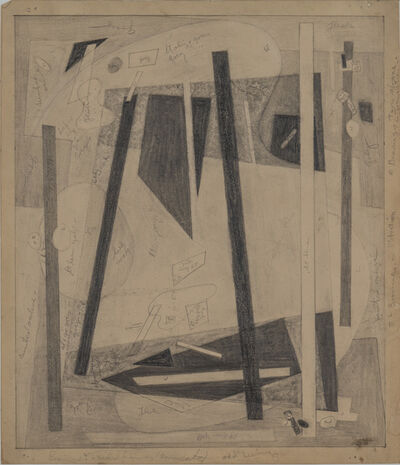 """Alice Trumbull Mason, 'Drawing for """"Bearings in Transition"""" Series', ca. 1947"""