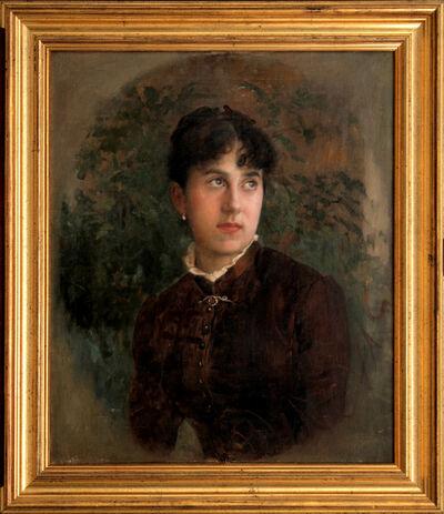 VLAHO BUKOVAC, 'Portrait of Artist's Sister Anna', 1881-1883