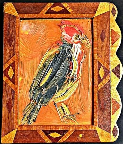 Hunt Slonem, 'Untitled (Robin red breast) inscribed to art critic Ronny Cohen', 1997
