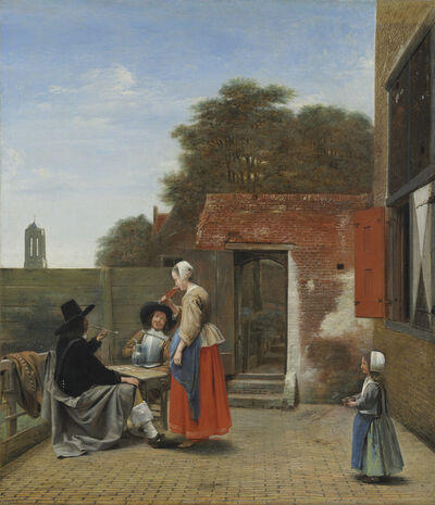 Pieter de Hooch, 'A Dutch Courtyard', 1658/1660