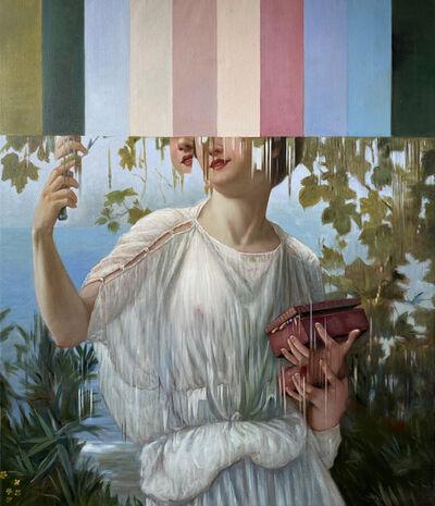 """Ciler, 'Intervención sobre """"Admiring Beauty"""" de Guillaume Seignac', 2021"""