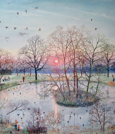 Emma Haworth, 'Sunset over Frozen Pond', 2017