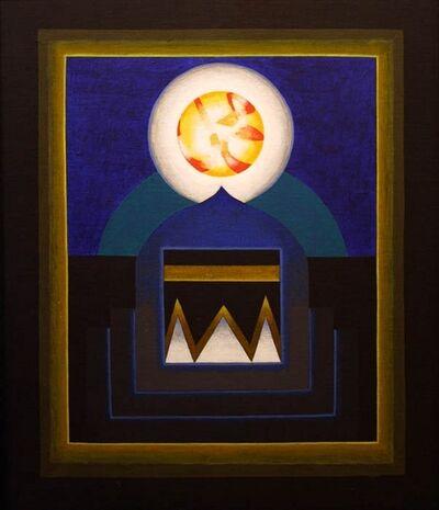 Gulam Rasool Santosh, 'Untitled (Blue with White Orb)'