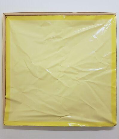 Angela de la Cruz, 'Bare (Wrinkled) Yellow', 2019