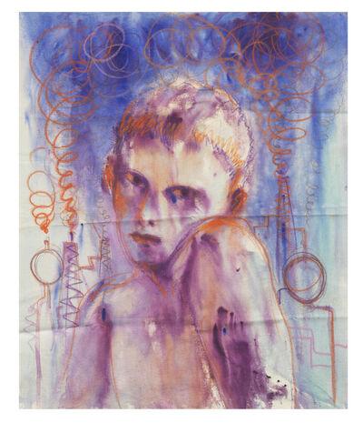 Andrej Dubravsky, 'The orange smoke on ultramarine sky', 2020
