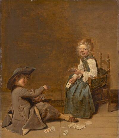 Dirck Hals, 'Children Playing Cards', 1631