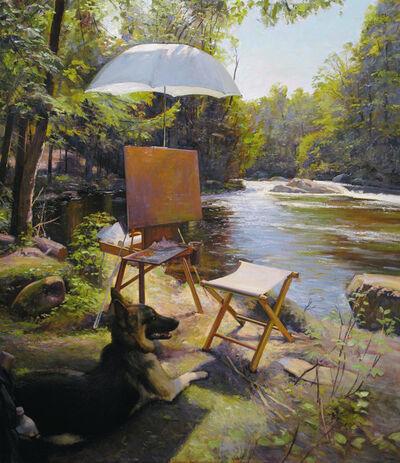 Joel Babb, 'Painting by the Brook – Breughel Watching, Nezinscot River, Turner, Maine', 2012