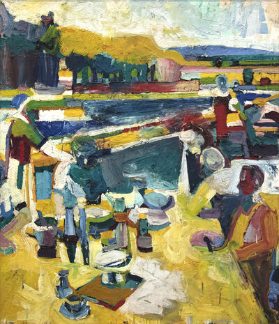 Roland Petersen, 'Picnic in Yellow', 1961
