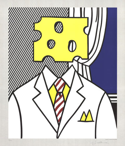 Roy Lichtenstein, 'Jobs Not Cheese! Moffett for Senator', 1982