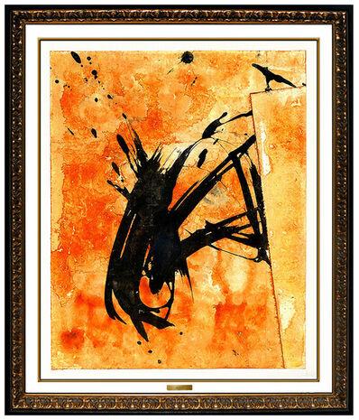 Jamali, 'JAMALI Original Abstract Painting Pigmentation on Cork Signed Figurative Artwork', 2003