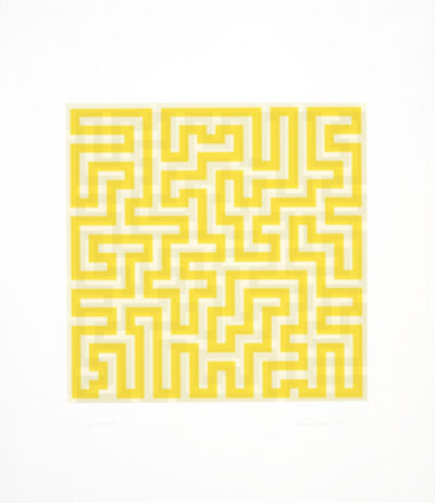 Anni Albers, 'Yellow Meander', 1970
