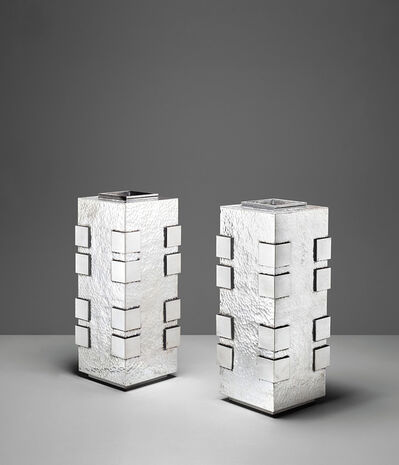 Jean Després, 'Important pair of vases', circa 1930
