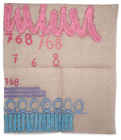Giorgio Griffa, 'Tre linee con arabesco', 1993