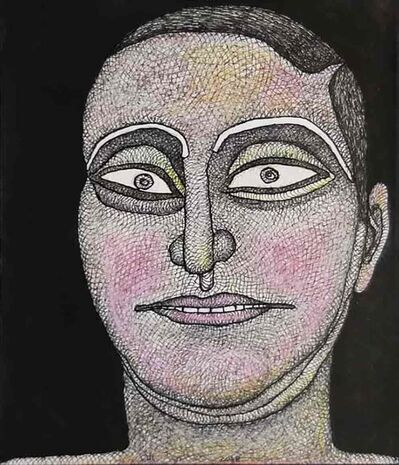 """Jogen Chowdhury, 'Untitled, Ink, Watercolour and Pastel on Paper by Modern Indian Artist """"In Stock""""', 2014"""