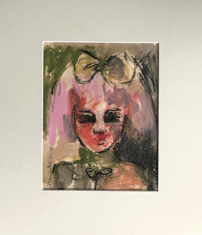 Bonnie Walters, 'Girl With Pink Hair And Red Face'