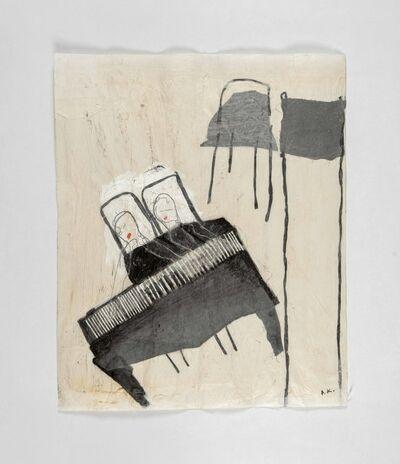 Azade Köker, 'Zwei Pianistinen', 2017