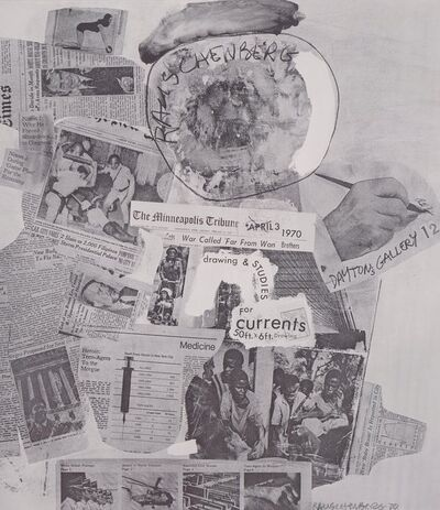 After Robert Rauschenberg, 'Untitled, from Surface Series, from Currents, exhibition poster', 1970