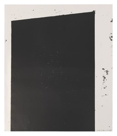 Richard Serra, 'Malcolm X', 1981