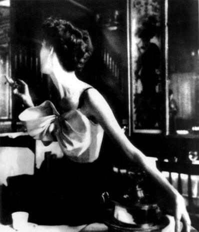 Lillian Bassman, 'Across the Restaurant, Barbara Mullen, dress by Jacques Fath, Le Grand Vefour, Paris, Harper's Bazaar', 1949
