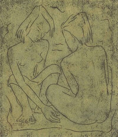 Angel Botello, 'Two Women', 1951