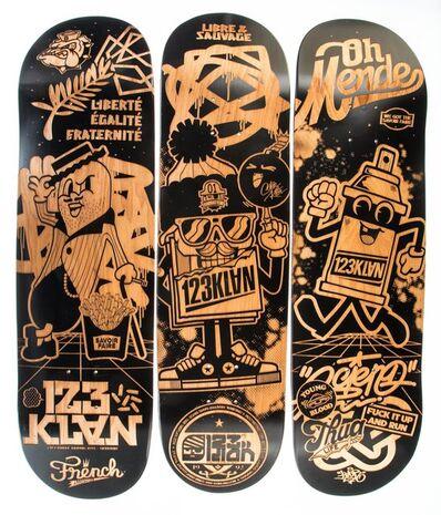 123 Klan Skate Decks, 'Skate Deck, triptych'