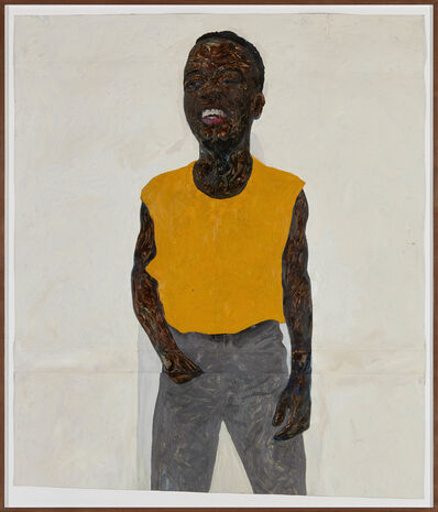 Amoako Boafo, 'Yellow Jacket', 2019