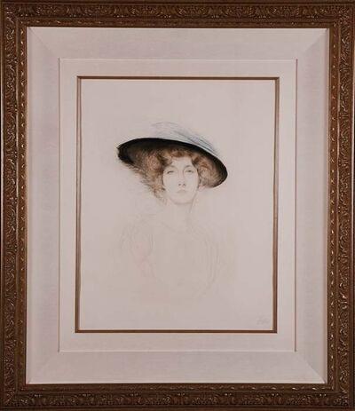 Paul César Helleu, 'Le Chapeau a Plume', ca. 1898