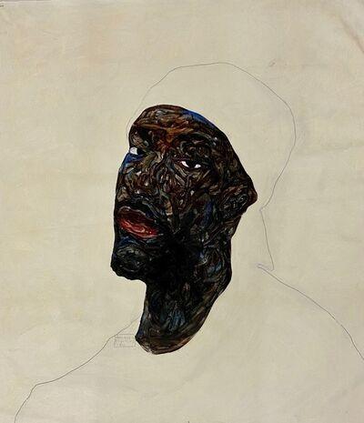 Amoako Boafo, 'White Cap', 2020