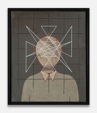 Thomas Zipp, 'A.O.: Magic Square of 4 (head) #black', 2019