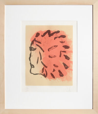 Claes Oldenburg, 'Indian Head from Peace Portfolio', 1972
