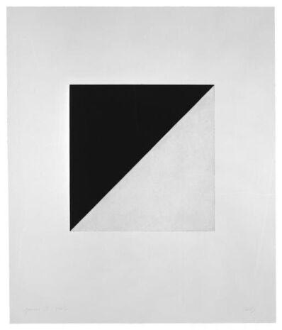 Ellsworth Kelly, 'Diagonal with Black (State)', 1982
