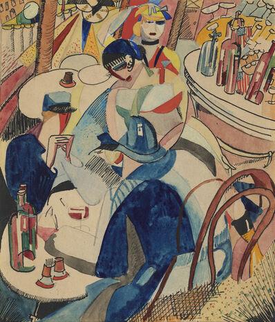 Cecil de Blaquiere Howard, 'Café Scene in Montparnasse', ca. 1916