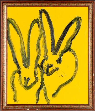 Hunt Slonem, 'Yellow Double Bunnies', 2019