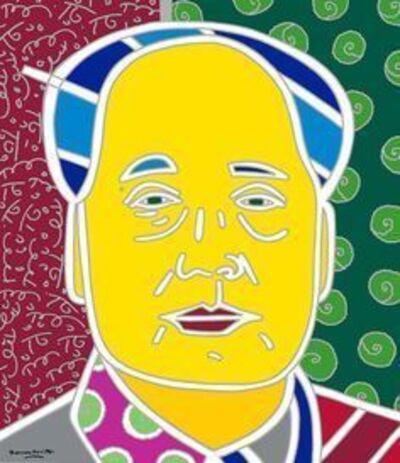 Romero Britto, 'Mao Zedong (white outline)'