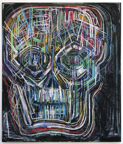 Thomas Houseago, 'Untitled (Colored Skull I)', 2017