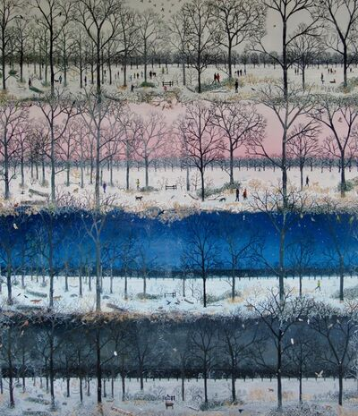 Emma Haworth, 'As Nighttime Falls in the Woods', 2017