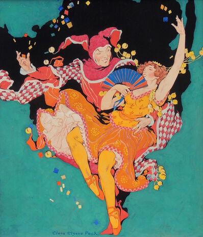 Clara Peck, 'Frolicking Harlequin and Ballerina, Theatre Magazine Cover', 1921