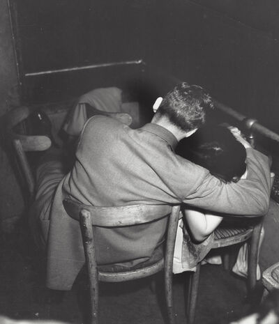 Weegee, 'Man and woman in a movie theater (infra-red)', ca. 1950