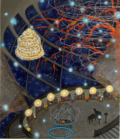 "Michiko Itatani, '""Piano Room"" painting from Cosmic Theater PRM-1', 2014"