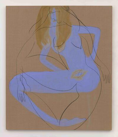 Vanessa Beecroft, 'blue girl underneath', 2018