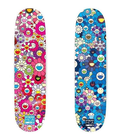 Takashi Murakami, 'Takashi Murakami Flowers Skateboard Decks (set of 2)', 2017